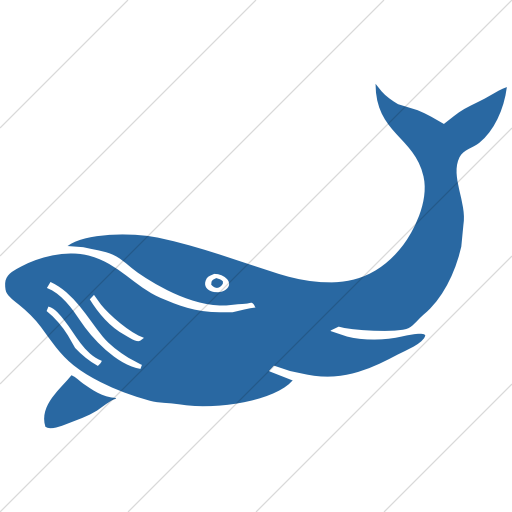 Simple Blue Animals Whale Icon