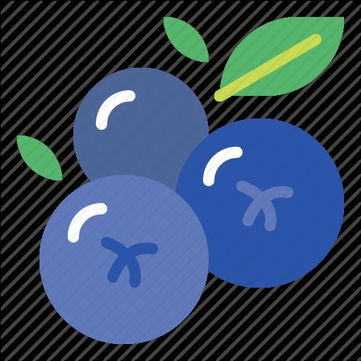 Blueberries, Blueberry, Fresh, Fruit Icon