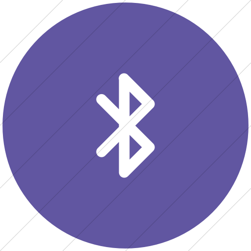 Flat Circle White On Purple Foundation Bluetooth Icon