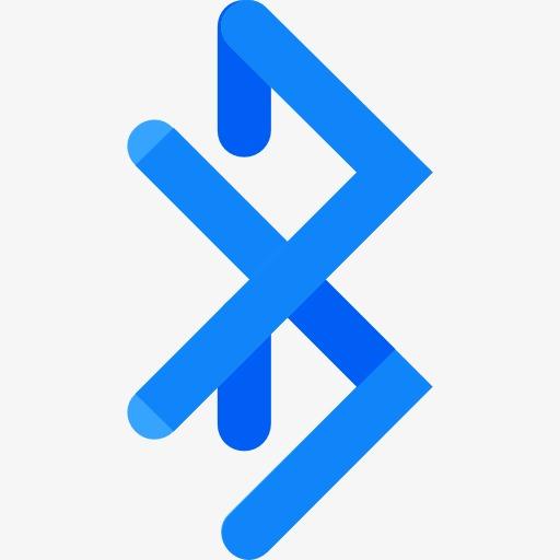 A Blue Bluetooth Logo, Logo Clipart, Bluetooth, Transmission Png