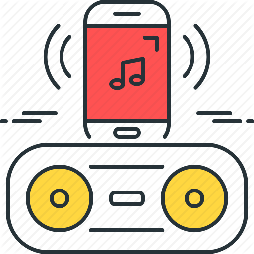 Bluetooth, Music, Play, Player, Smartphone, Song, Speaker Icon
