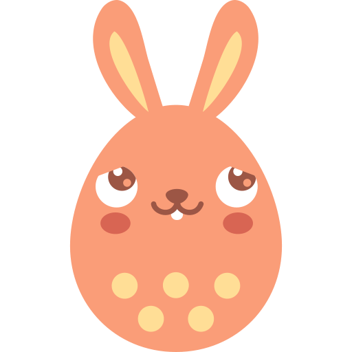 Blush, Bunny Icon Free Of Easter Egg Bunny Icons
