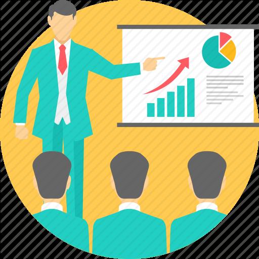 Board, Explain, Explaination, Meeting, Presentation, Report Icon