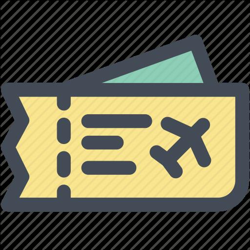 Airline, Boarding Pass, Plane, Plane Ticket, Ticket, Travel, Trip Icon