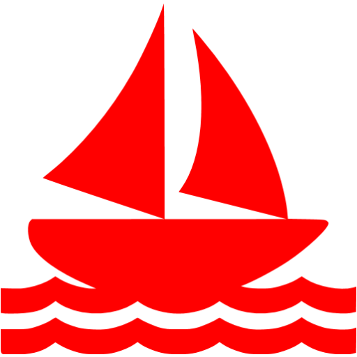 Red Sail Boat Icon
