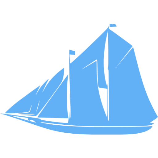 Tropical Blue Boat Icon
