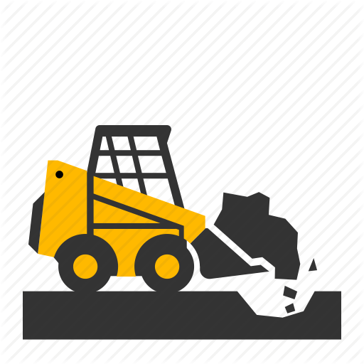 Bobcat, Digging, Dirt, Hole, Loader, Small, Wheel Icon