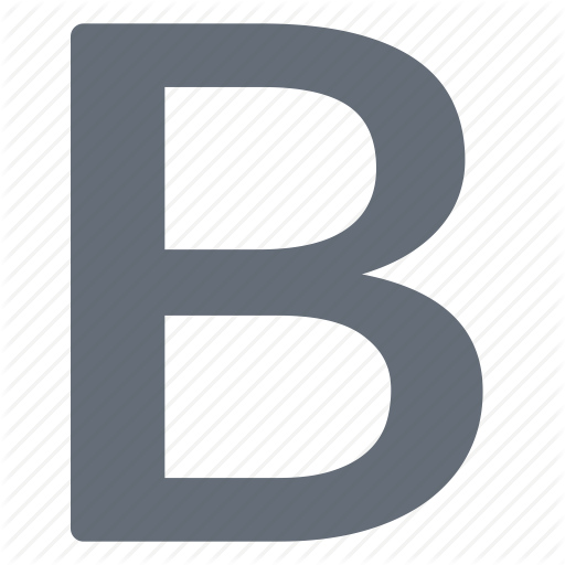 Bold, Character, Large Icon