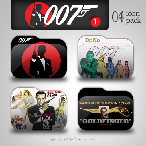 James Bond Folder Icon Pack Part