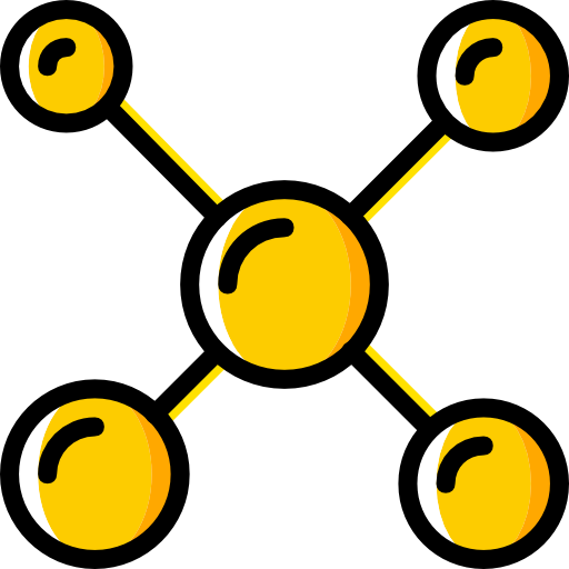 Bond, Atoms, Medical, Education, Chemistry, Molecule, Structure Icon