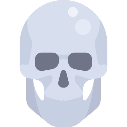 Halloween, Skeleton, Bone Icon