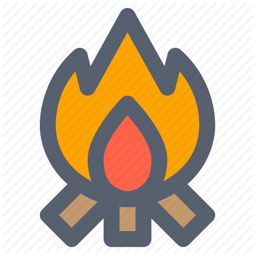 Bonfire, Campfire, Camping, Fire, Flame Icon
