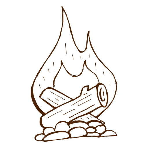 Hand Drawn Camping Bonfire Icon