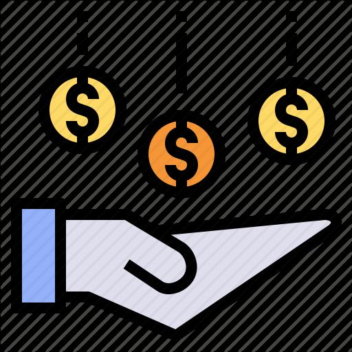 Bonus, Coin, Dividend, Gain, Interest, Profit, Receive Icon