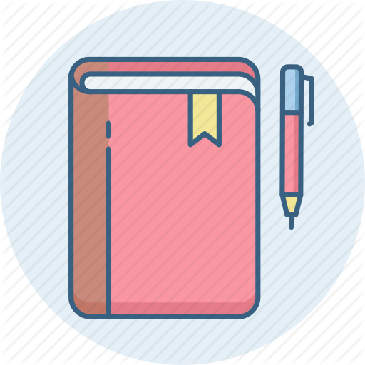 Book, Folder, Note, Pen Icon