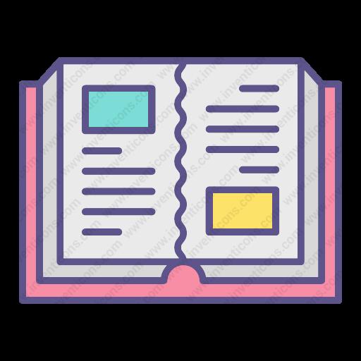 Download Open,book Icon Inventicons