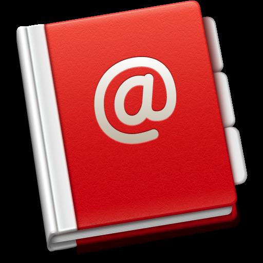 Address Book Icon Soda Red Iconset Trysoda
