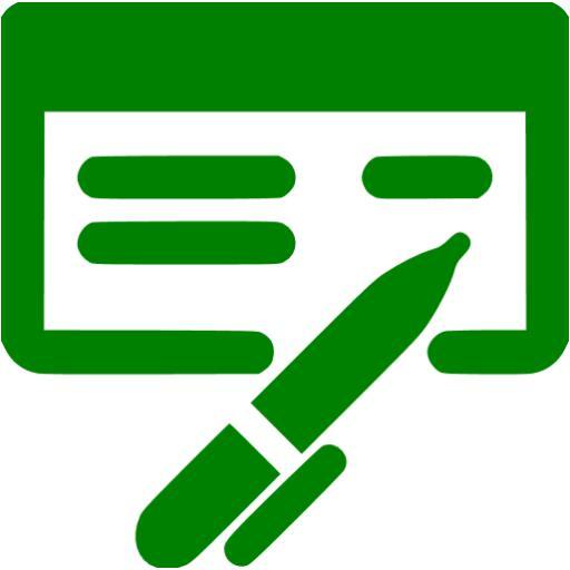 Green Check Book Icon