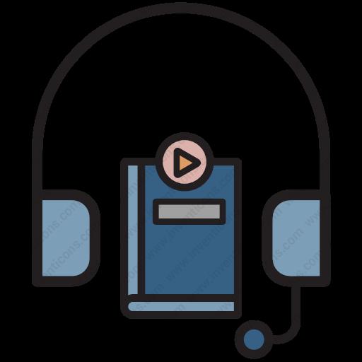 Download Audio Books Icon Inventicons