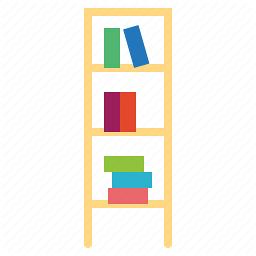 Book, Bookcase, Bookshelf, Library, Storage Icon