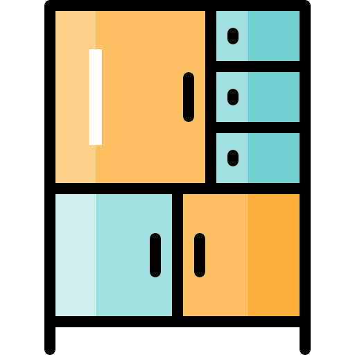 Library, Bookshelves, Shelves, Bookcase Icon