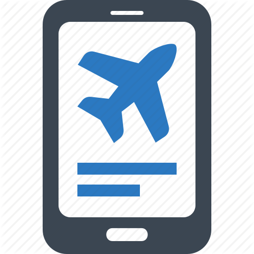 Flight Booking, Mobile Booking, Online Booking Icon