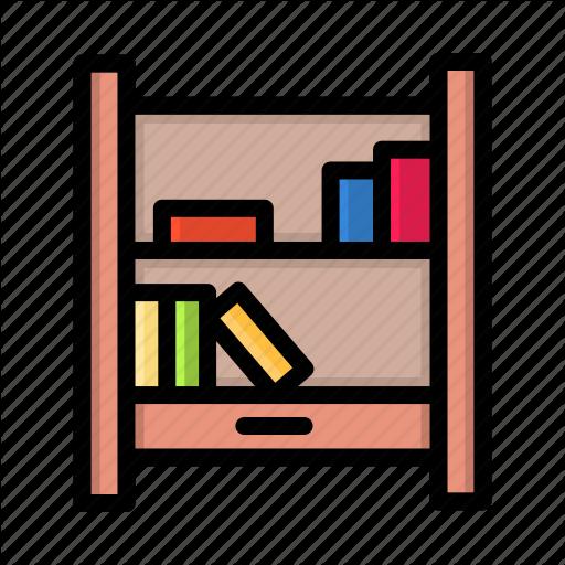 Book, Bookshelf, Library, Read Icon