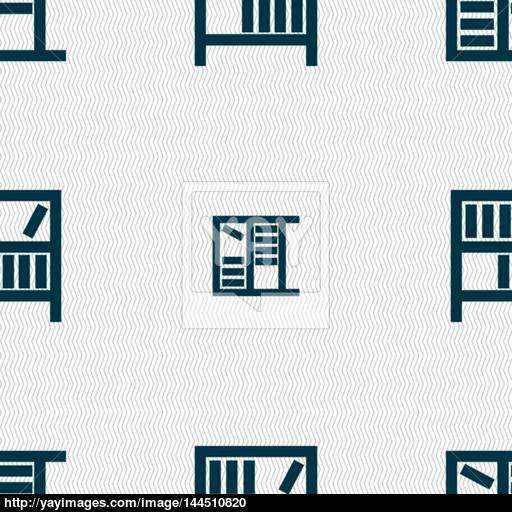 Bookshelf Icon Sign Seamless Abstract Background With Geometric