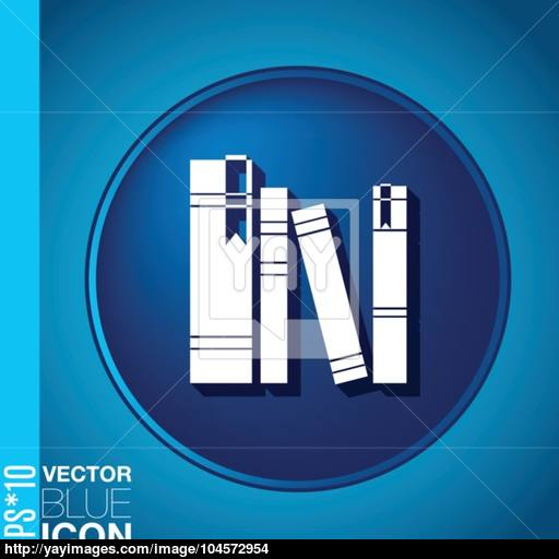 The Spines Of Books Icon Symbol Of A Science And Literature