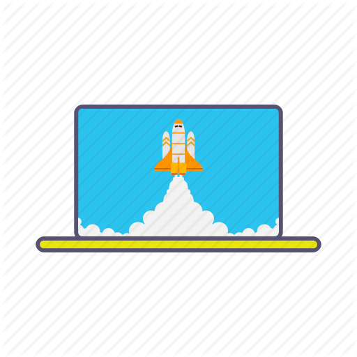 Boost, Business, Growth, Laptop, Launcher, Marketing, Rocket Icon