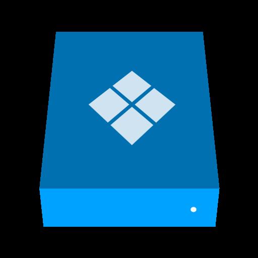 Bootcamp Drive Icon Phlat Blue Folders Iconset Shaunkleyn