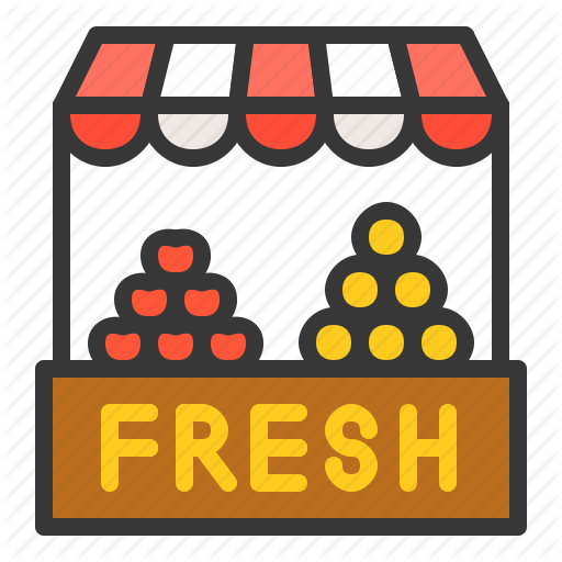 Booth, Farming, Fruit, Market, Sell, Stall Icon