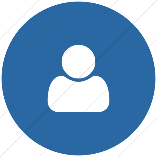Flat Circle White On Blue Bootstrap Font Awesome User Icon