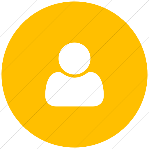 Flat Circle White On Yellow Bootstrap Font Awesome User