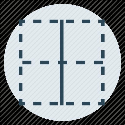 Border, Center, Column, Layout, Table Icon
