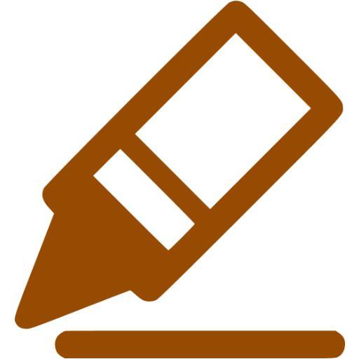 Brown Border Color Icon
