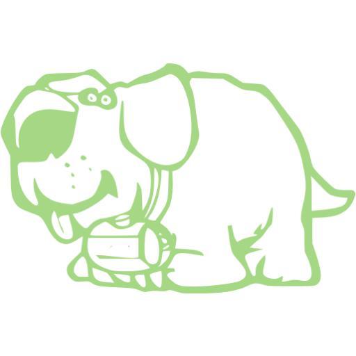 Guacamole Green Dog Icon