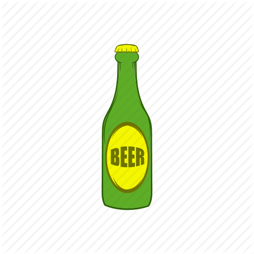 Alcohol, Beer, Bottle, Cap, Cartoon, Cool, Light Icon
