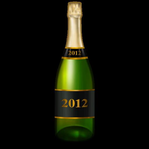 Champagne Bottle Icon New Year Iconset