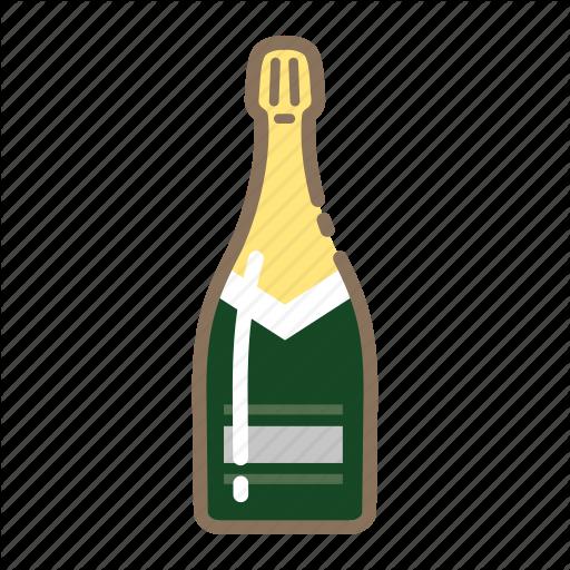 Bottle, Champagne Icon