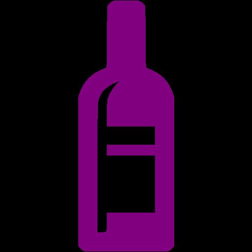 Purple Wine Bottle Icon