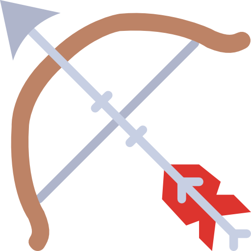Bow And Arrow Icon Medieval Smashicons