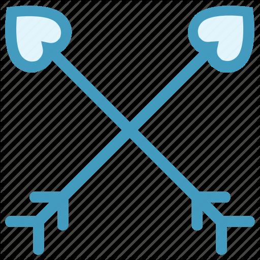 Archery, Arrow, Bow, Cupid Bow, Heart, Heart Arrows Icon