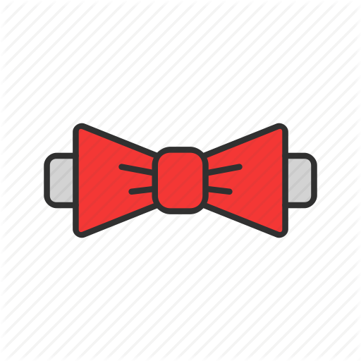 Bow Tie, Formal Attire, Red Tie, Tie Icon