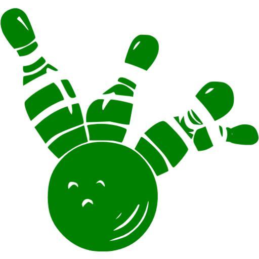 Green Bowling Icon