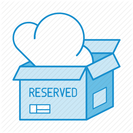 Box, Cloud, Package, Pool, Reservation, Reserved, Service Icon
