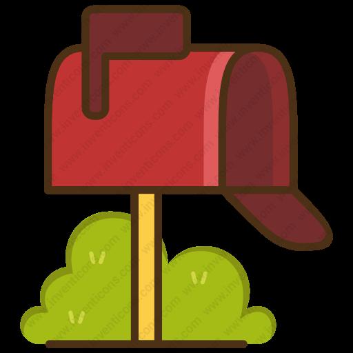 Download Mail,box Icon Inventicons