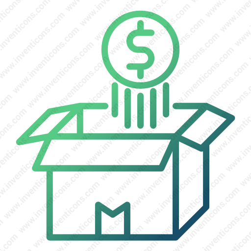 Download Money,coin,float,over,opened,box Icon Inventicons
