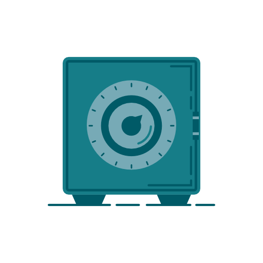 Safety Deposit Box Icon Free Of Banking Icons Vector