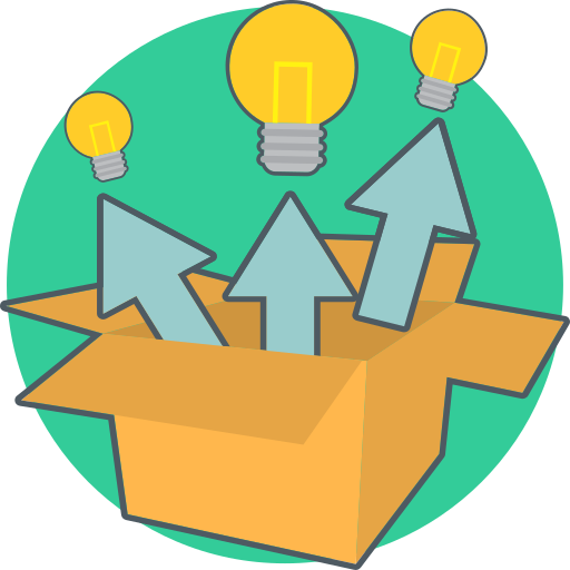 Box, Creative, Energy, Idea, Think, Out Of The Box Icon Free